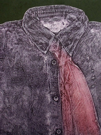 collagraphs of cast clothing