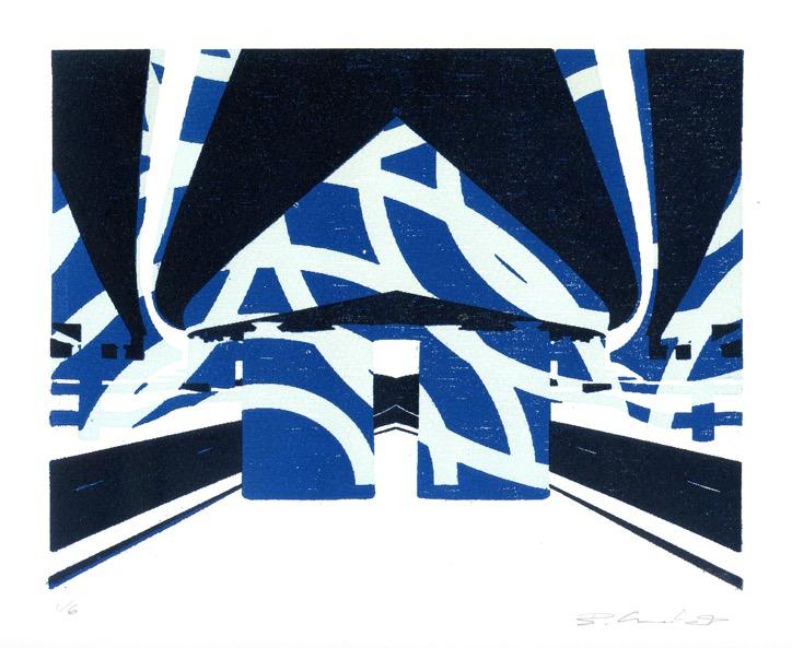 Flyover - Mirror Blue