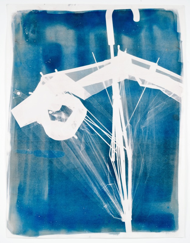 umbrella all washed up cyanotype