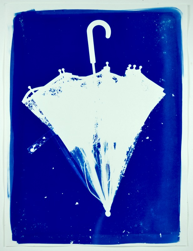 umbrella all washed up cyanotype