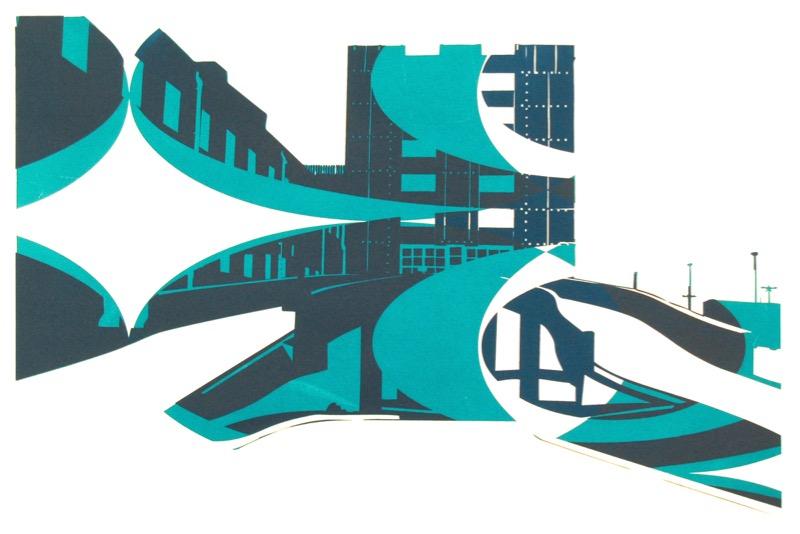 Carpark (screenprint 58 x 42 cms)