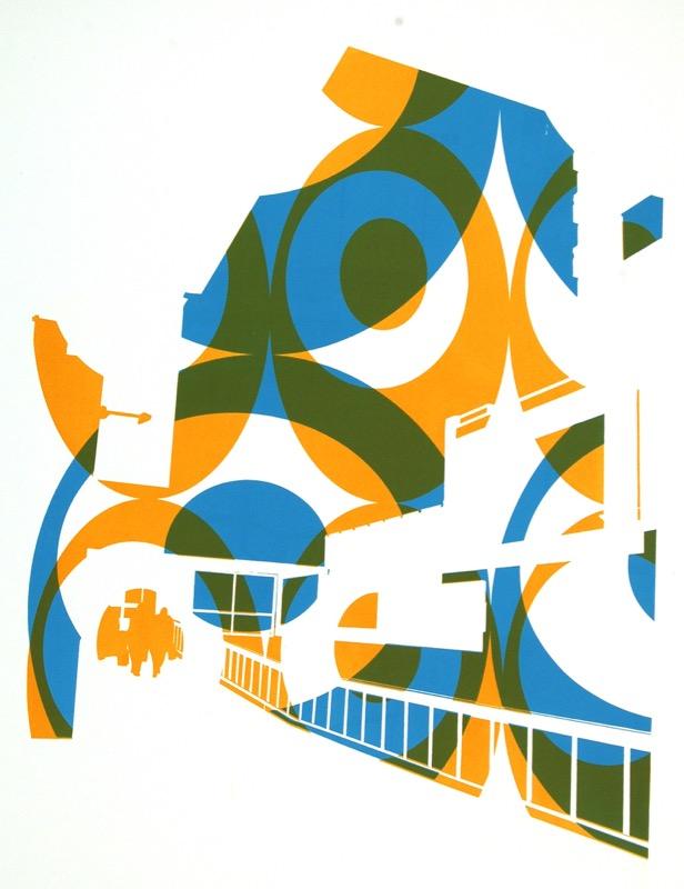 Kingsway 2 (screenprint 53 x 38 cms)