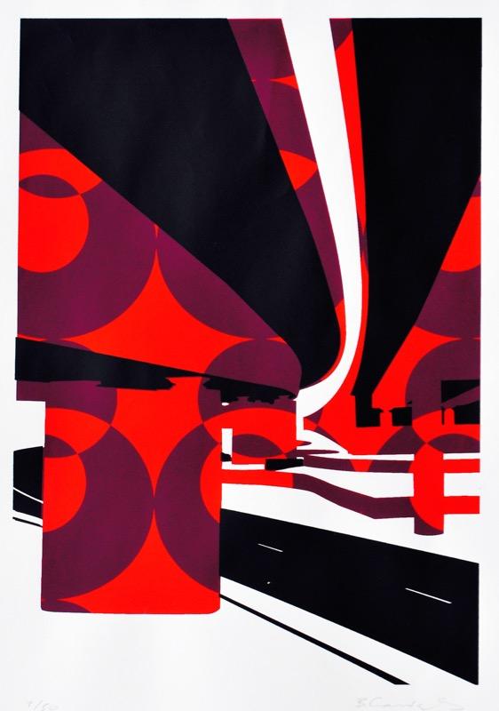 Flyover (screenprint 53 x 38 cms)