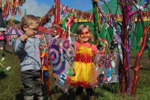 Glastonbury Festival 2016 children's plastic fusion flag making workshop