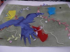 Greenman Festival 2015 dye transfer flag making workshop