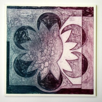 Indian Flower Motif VII (Collograph Print 35 x 35cms)