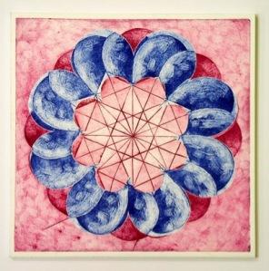 Indian Flower Motif VI (Collograph Print 35 x 35cms)
