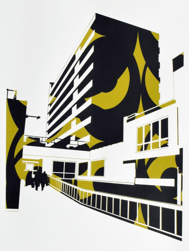 Kingsway (screenprint 53 x 38 cms)