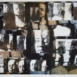 Phrenology Heads (Collograph Print 65 x 49 cm)