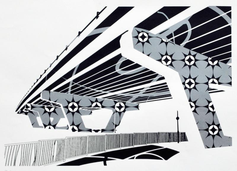 Underpass (screenprint 53 x 38 cms)
